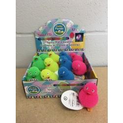 "Easter Neon LED Puffer Ducks - 2.75"" ~ 12 per display"