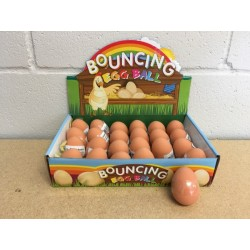 Easter High Bouncing Rubber Eggs ~ 24 per display