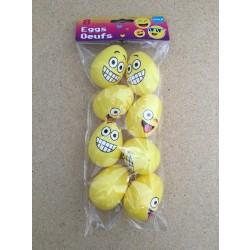 """Easter Emoji Fillable Eggs, 2.5"""" ~ 8 per pack"""