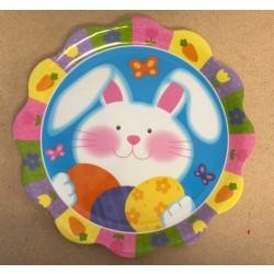 """Easter Printed Scalloped Edge Serving Platter ~ 14""""D"""
