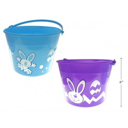 Easter Printed Pail with Handle ~ 11""