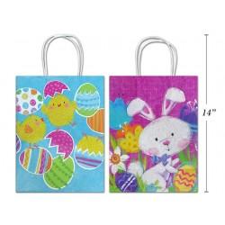 Easter Matte with Glitter Medium Gift Bag