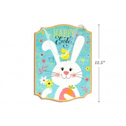 "Easter Glitter MDF Wall Plaque ~ 9-3/8"" x 12.5"""