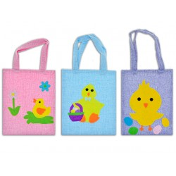 """Easter Burlap Easter Egg Hunt Bag ~ 8"""" x 10"""""""