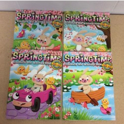 Easter Spring Time Coloring/Activity Book