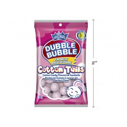 Easter Double Bubble Cottontail Textured Gumballs - Cotton Candy Flavored ~ 99gr bag