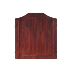 Solid Pine Dartboard Cabinet ~ Mahogany Finish