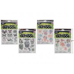 Halloween Glow-in-the-Dark Tattoos ~ 20 pieces