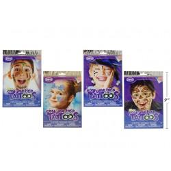 Halloween Kids Costume Face Tattoo