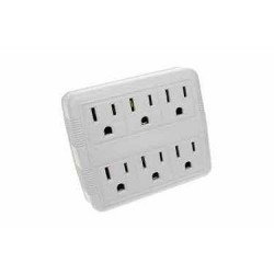 2 to 6 Grounded Outlet Adaptor