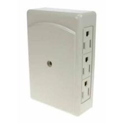 2 to 6 Grounded Outlet Adapter ~ Side Entry