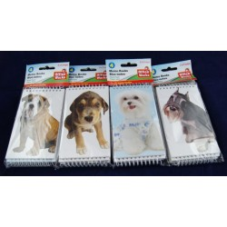 "Dog Design Notebooks - 3"" x 5"" ~ 4 per pack"