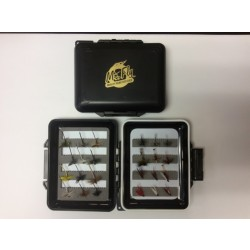 Mr Fly Waterproof & Floatable Fly Box w/ 24 Assorted Trout Flies