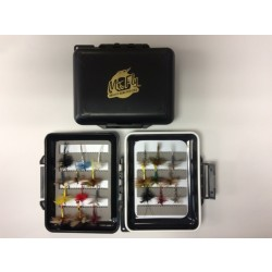 Mr Fly Waterproof & Floatable Fly Box w/ 21 Assorted Large Trout Flies