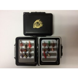 Mr Fly Waterproof & Floatable Fly Box w/ 17 Salmon Bugs