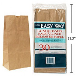 Kraft Paper Lunch Bags ~ 30 per pack