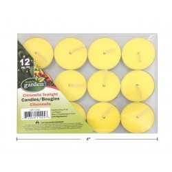Citronella Tealight Candles ~ 12 per pack