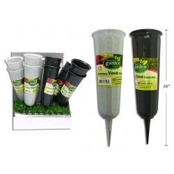 "Plastic Cemetary Vase ~ 9.75"""