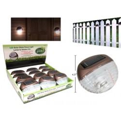 "Solar Globe Fence LIghts - 4.25"" x 1.5"" ~ 12 per display"