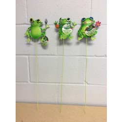 """Metal Frog Picks ~ 24""""H"""
