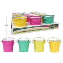 Citronella Candle in Tin Pail - 80g ~ 12 per display