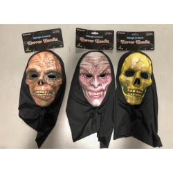 Horror Hoodie Scary Mask with Hood
