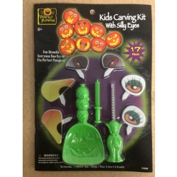 Pumpkin Carving Kit w/Silly Eyes
