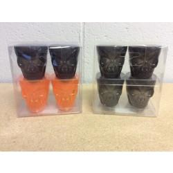 Halloween Plastic Skull Shotglasses