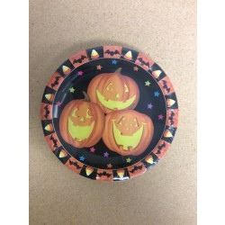 "Halloween Paper Plates - 7"""