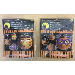 Pumpkin Foam Sticker / Felt Decorating Kit