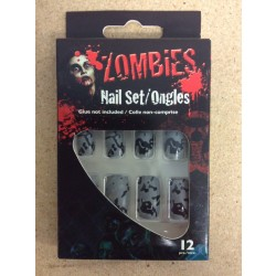 Halloween Zombie Nail Set ~ 12 pieces
