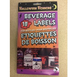 Halloween Beverage Labels ~18 per pack