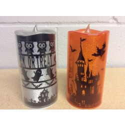 "Halloween LED Pillar Candle ~ 3""x 6"""