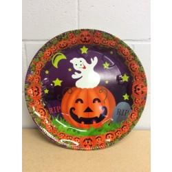 "Halloween Round Plastic Tray ~ 17""D"