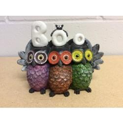 "Halloween Polyresin Owl ""BOO"" Decoration"