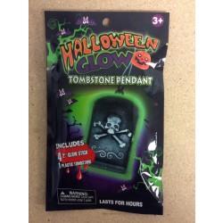 Halloween Glow Tombstone Pendant