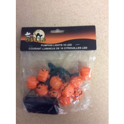 Halloween Battery Operated Pumpkin LED String Lights ~ 10 per string