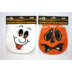 Halloween Candy Bag w/Drawstring ~ 10 per pack