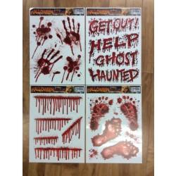 Halloween Bloody Window Clings