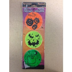 Halloween Safety Patches ~ 3 per pack