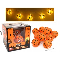 Halloween LED Paper Lanterns ~ 10/pk