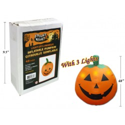 Halloween 3-LED Light Up Inflatable Pumpkin ~ 4'