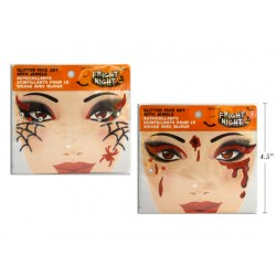 Halloween Glitter Face Art w/Jewels