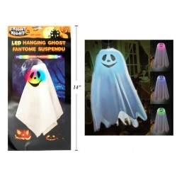 "Halloween LED Color Changing Hanging Ghost ~ 21"" x 17"""
