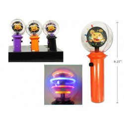 """Halloween 6.5"""" LED Light Up Spinner Wand ~ 12 per display"""