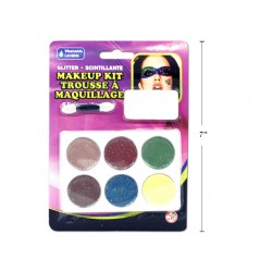 Halloween 6-color Glitter Make Up Tray with Applicator