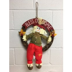 "Harvest Boy Scarecrow Wreath ~ 20""D"