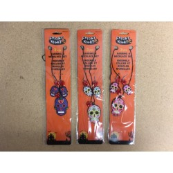 Halloween Day of the Dead Earring/Necklane Set ~ 3 piece set