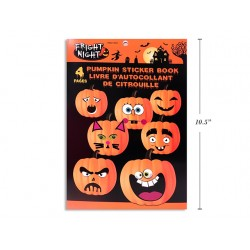 Halloween Pumpkin Sticker Book ~ 4 pages