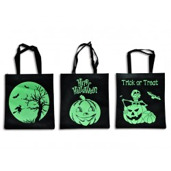 "Halloween Glow in the Dark Non-Woven Trick or Treat Bags ~ 14.75""L x 16.75""W"